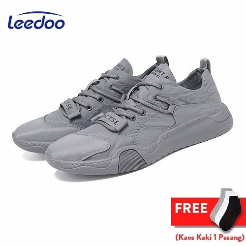 Foto Produk Leedoo Sepatu Pria Sneaker Running Spatu Casual Young Lifestyle MC101 - Abu-abu, 39 dari Leedoo