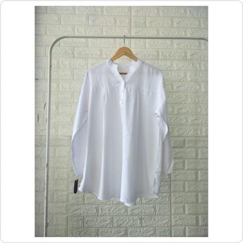 Foto Produk Blouse polos viscose Putih - 3L dari bajuibukk