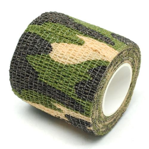 Foto Produk Camo tape / isolasi kain camo / Lakban kamuflase / camouflage - Hijau dari Sungai Kuning