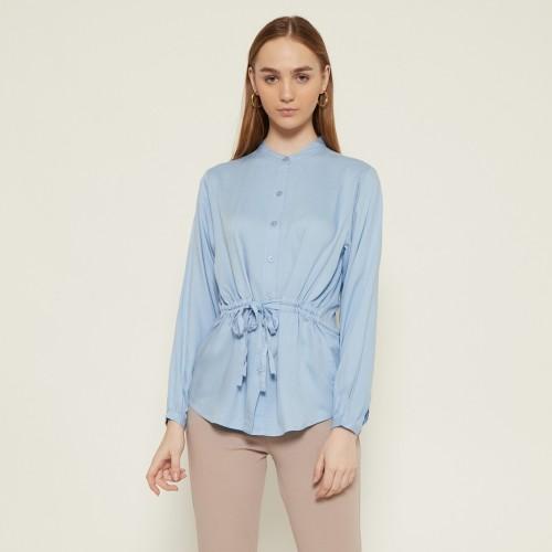 Foto Produk Cammomile 1909015 Blouse atasan wanita kemeja lengan panjang - Blue, S dari Cammomile FashionLine
