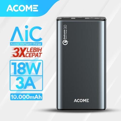 Foto Produk ACOME Powerbank 10000mAh QC 3.0 - 2 Output - Garansi 18 Bulan - AP102 dari Acome Indonesia
