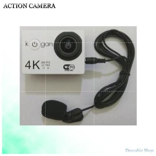 Foto Produk Action Camera Motovlog Kogan 4K WiFi dengan Eksternal Microphone dari Desyabiz Shop