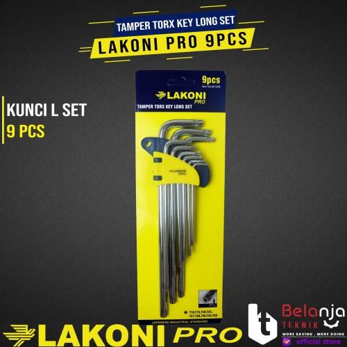 Foto Produk LAKONI PRO Kunci L Bintang Lubang Set 9 Pcs Kunci L Set Bintang 9pcs dari Belanja Teknik