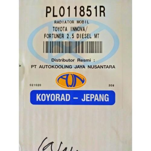 Foto Produk Radiator Innova/Fortuner Diesel MT (2004-2015) (16400-0L140) (KOYORAD) dari Emerald - PrioMotor