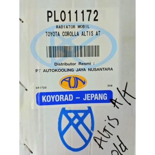 Foto Produk Radiator Altis Matic GEN 1 tahun 2001-2006 ( 16400-21180) (KOYORAD) dari Emerald - PrioMotor