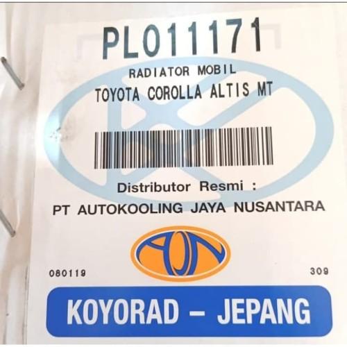 Foto Produk Radiator Altis manual GEN 1 tahun 2001-2006 ( 16400-21140) (KOYORAD) dari Emerald - PrioMotor