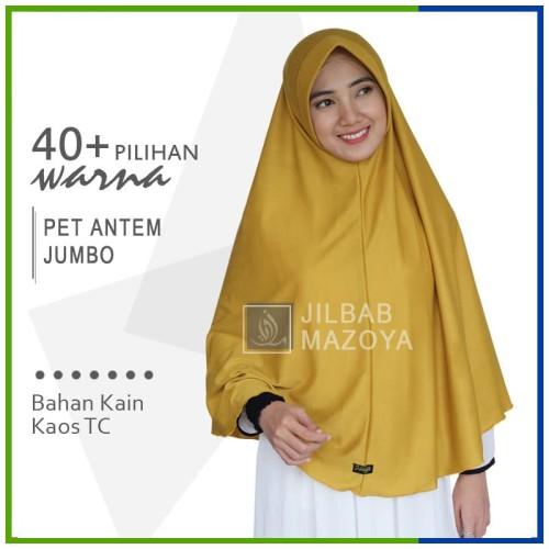 Foto Produk Jilbab Instan Pet Antem Jumbo / Hijab Kaos Bergo Anthem Size SYARI dari Jilbab Mazoya