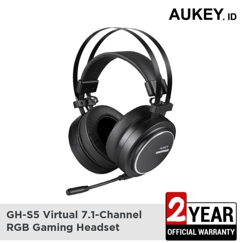 Foto Produk Aukey Headset GH-S5 Virtual 7.1-Channel RGB Gaming Headset - 500554 dari AUKEY
