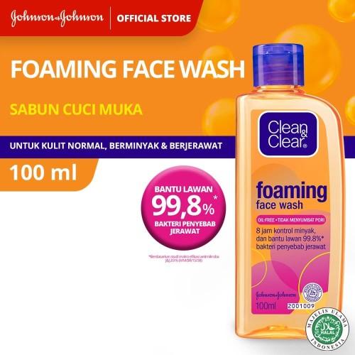 Foto Produk Clean & Clear Foaming Face Wash 100ml dari Johnson & Johnson