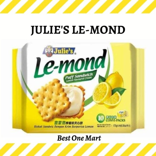 Foto Produk Biskuit Lemon / Julies Lemond / Julie's Lemond 170 g dari Best One Mart