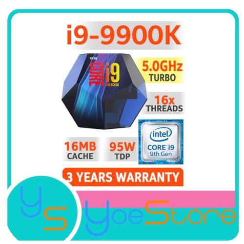 Foto Produk Intel Core i9 9900K Coffee Lake 8-Core 16-Thread 3.6 GHz Upto 5.0 GHz dari Yoestore