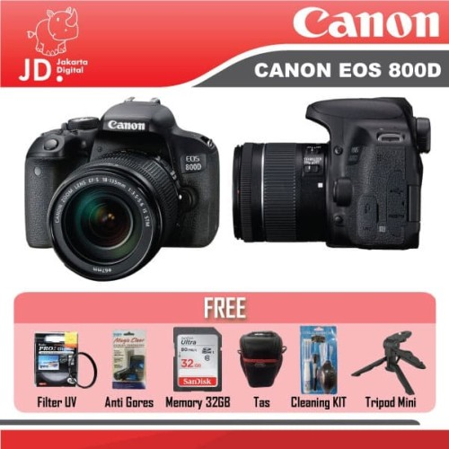 Foto Produk Canon EOS 800D Kit 18-55mm IS STM BLACK PAKET LENGKAP TERMURAH dari Jakarta Digital