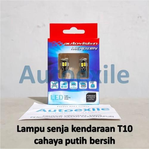 Foto Produk Autovision LED T10 W5W Canbus 5630 10SMD Putih Lampu Senja Motor Mobil dari Autoexile