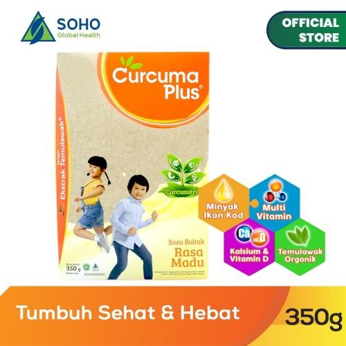 Foto Produk Curcuma Plus Susu Bubuk Ekstrak Temulawak - Madu 350g dari Soho Global