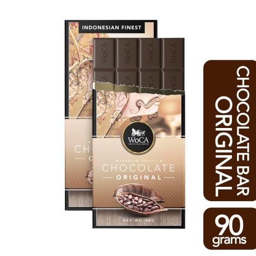 Foto Produk WoCA Premium Chocolate Bar - Cokelat Batang Rasa Original - 90 gram dari Arutala Online Co.