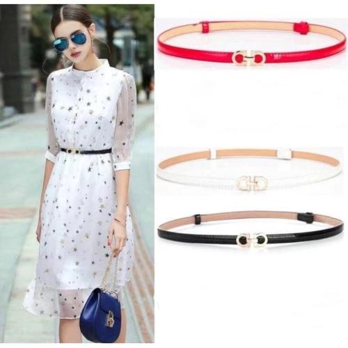 Foto Produk Ikat Pinggang Belt Kecil Wanita Fashion Korea Adjustable 'aa' - Gold dari Venditionis_shop