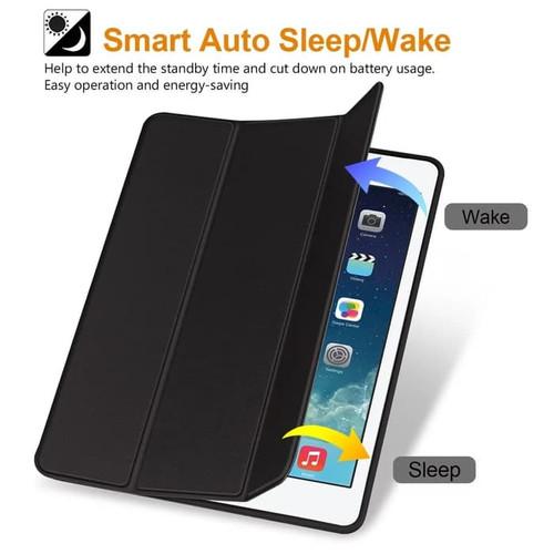 Foto Produk iPad 6 2018 9.7inchi Smart Cover Case Magnetic With Pencil Holder - Hitam dari diva acc