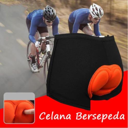 Foto Produk Celana Sepeda / Celana Dalam Sepeda / Celana Sepeda Pria Wanita Busa - Biru Spons, L dari Acc Perhiasan