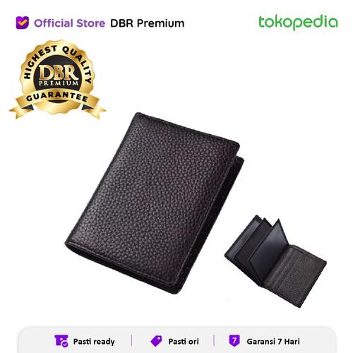 Foto Produk CARD HOLDER DOMPET KARTU DOMPET PENDEK LIPAT 8681 - Cokelat dari DBR Premium