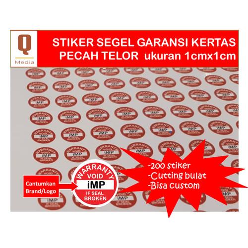 Foto Produk Cetak Kilat Stiker Khusus Segel 1cmx1cm Bulat Bahan Kertas Pecah Telur dari Queen Media