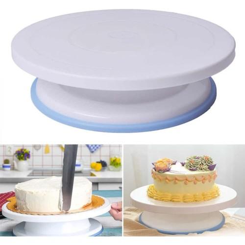 Foto Produk Cake Decorating Turntable 28cm 11in Non Slip Meja Putar Dekorasi Kue dari ChinaTown