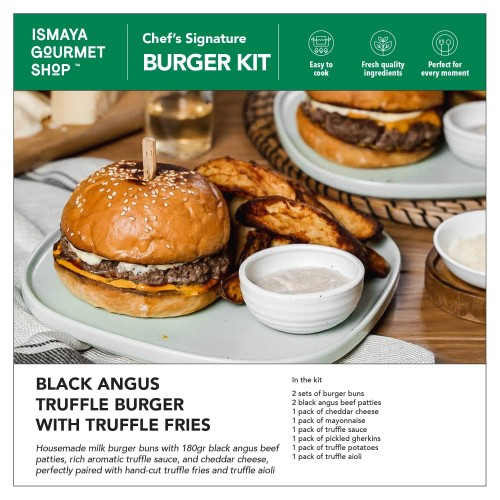 Foto Produk Ismaya Burger Kit : Black Angus Truffle Burger with Truffle Fries dari Ismaya Gourmet Shop