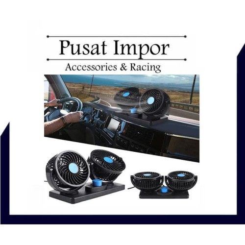 Foto Produk Kipas Angin Mobil 360 Degress Double Headed Fan dari Pusat Impor