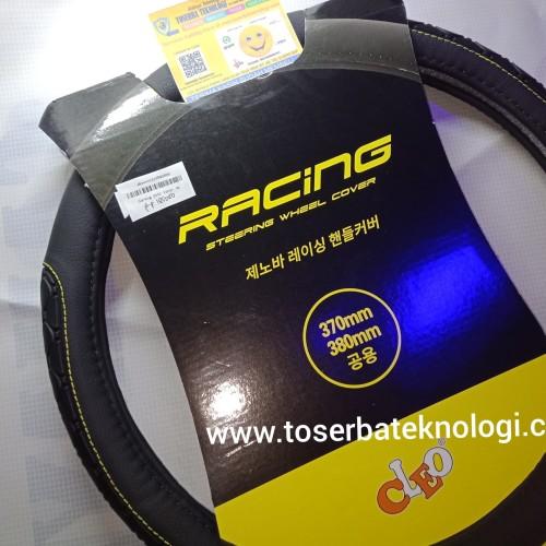 Foto Produk Sarung Stir Cover Mobil Merk Cleo Hitam List Karet Yellow Premium dari Toserba Teknologi Official