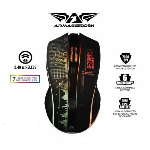 Foto Produk Armaggeddon Mikoyan Foxbat III Ironsight - 7 Wireless Gaming Mouse dari manekistore