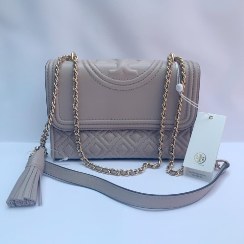 Foto Produk Ready TB Fleming Small Convertible Shoulder Bag Light Taupe dari ferliarj16