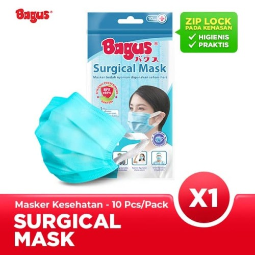Foto Produk Bagus Masker Sehari-hari - 1 Pack Isi 10 pcs dari Bagus Official Store