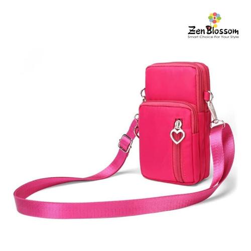 Foto Produk Tas HP Selempang Wanita Import Mini Heart Zipper L Size - Fanta dari ZenBlossom