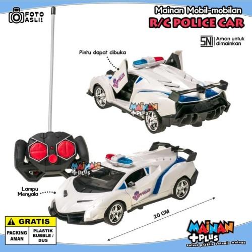 Foto Produk MAINAN ANAK LAKI LAKI MOBIL MOBILAN POLISI REMOTE RADIO CONTROL RC CAR dari MainanPlus