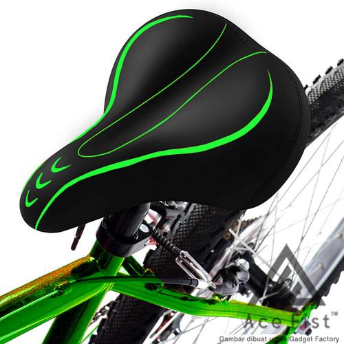 Foto Produk Sadel Sepeda Super Empuk Kursi Jok MTB Gunung Lipat Saddle Bike Road - Hijau dari Gadget Factory