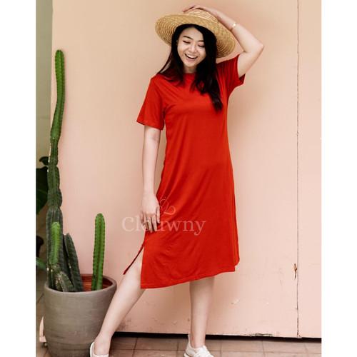 Foto Produk Clouwny - Tracie loose dress - dress wanita - fashion wanita - Brick dari Clouwny