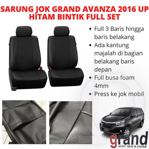 Foto Produk Sarung Jok Toyota Avanza 2016 Up Hitam/Bintik Grand Full Set dari Omega Motor