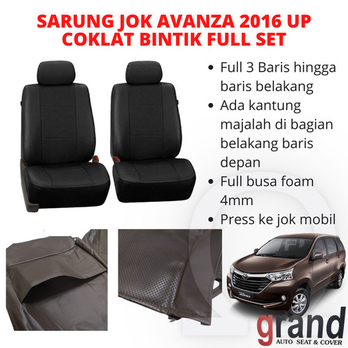 Foto Produk Sarung Jok Toyota Avanza 2016 Up Coklat/Bintik Grand Full Set Original dari Omega Motor