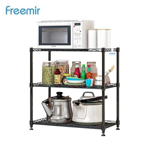 Foto Produk freemir Rak Penyimpanan 3 Susun Besi Tingkat Storage Rack Serbaguna dari freemir Official Store