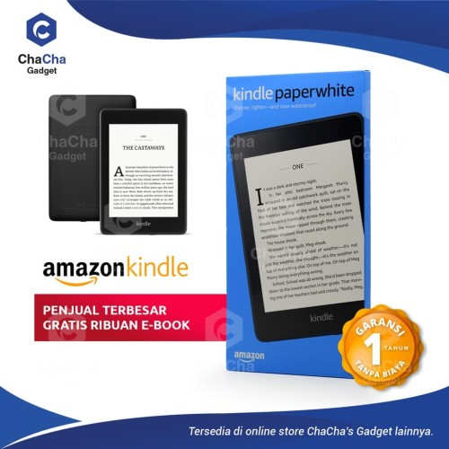 Foto Produk Amazon Kindle Paperwhite eBook Reader Waterproof 32GB Ads Black dari ChaCha's Gadget