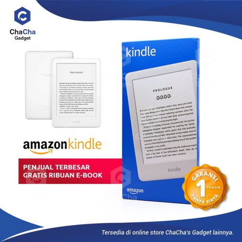 Foto Produk Amazon Kindle 10th Front Light eBook Reader Bluetooth 8GB No Ads WHITE dari ChaCha's Gadget