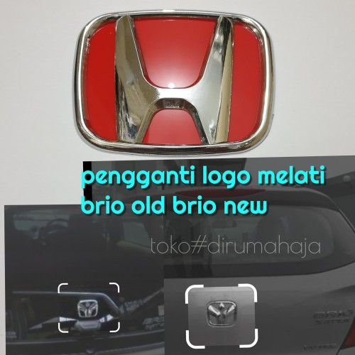 Foto Produk logo honda merah brio old brio new belakang dari toko#dirumahaja