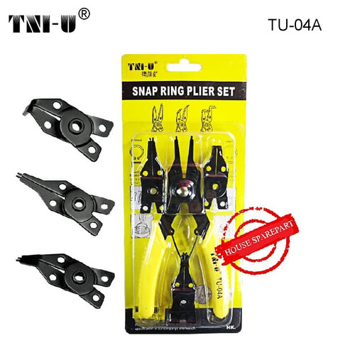 "Foto Produk TNI-U TU-04A 6"" Flexible Head Circlip Plier High-Carbon Steel Crimping dari HOUSE SPAREPART"