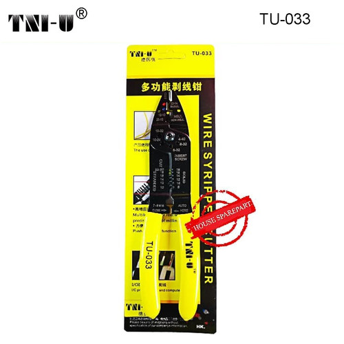 Foto Produk TNI-U TU-033 Multi-Function Cable Wire Sripper | Cutter Cable dari HOUSE SPAREPART