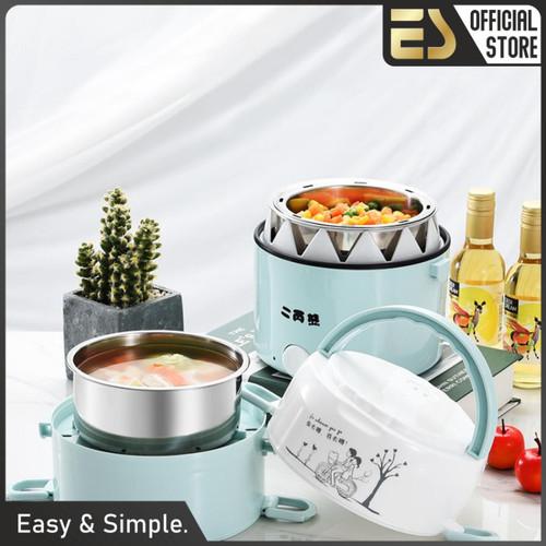 Foto Produk ES Panci Listrik Portable Kotak Makan Elektrik Rantang Elektrik Susun - 2 susun dari ES Official Store