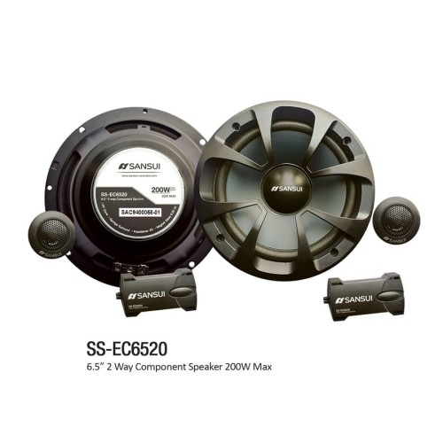 Foto Produk Sansui Speaker SS-EC6520 (6.5 Inch) Component Speaker Audio Mobil dari Sansui Car Audio