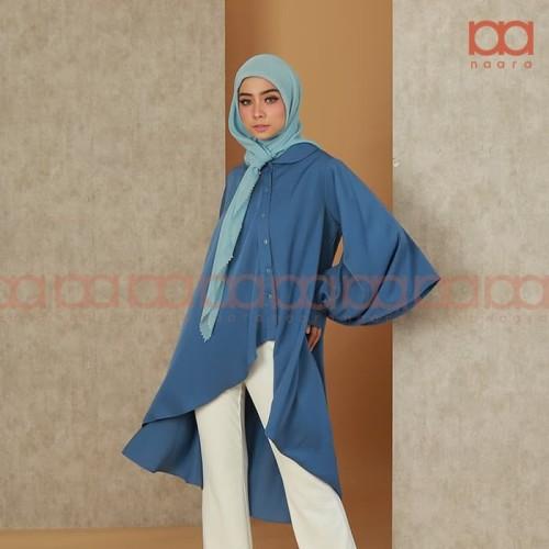 Foto Produk NAENI BLOUSE - PEACOCK BLUE dari Naara by Nesa Aqila