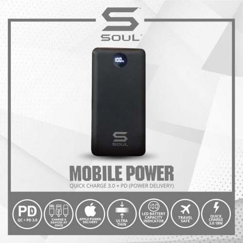 Foto Produk Powerbank Soul Quick charge 3.0+PD (Power Delivery) 10.000 mAh dari Soul official