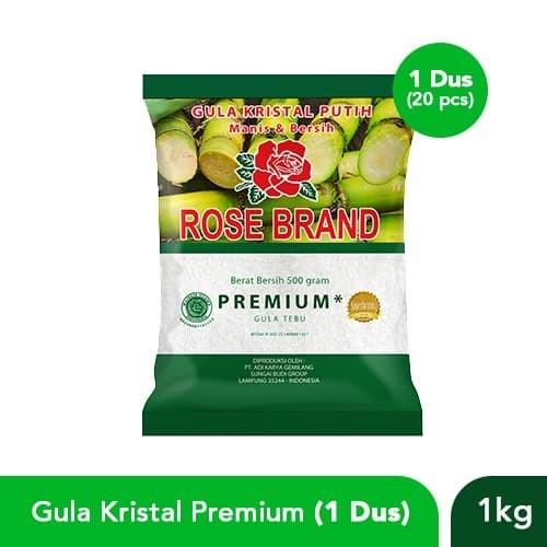 Foto Produk Paket Hemat Gula Kristal Premium Rose Brand (1 Dus) dari Rose Brand Store