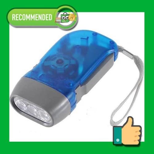 Foto Produk Senter Pompa LED Dinamo Tangan, Hand Pressing Flashlight Emergency dari futureshopid