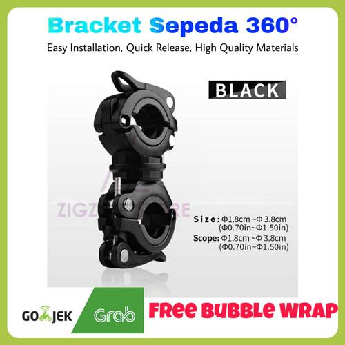 Foto Produk Bracket Senter Sepeda Type D (360 Derajat) - Hitam Hitam dari ZigZag-Store
